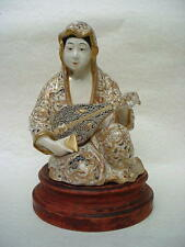 "UNIQUE! 19th.Century SATSUMA GILDED  DEITY FIGURE ""GODDESS BENTEN"""