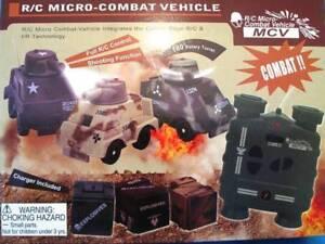 CARRO ARMATO + RADIO INFRAROSSI + CARICATORE RC MICRO-COMBAT VEHICLE MCV
