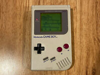 Original Nintendo GameBoy DMG-01 Gray/White Japan Handheld Console Works