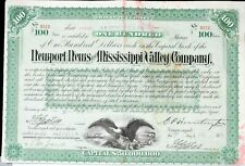 Newport News & Mississippi Valley Co. 100 Share Stock Certificate 1890 99c NR