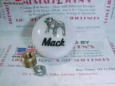 Mack Truck, 1970's retro, Roadway style Shift Knobs. (White W/ Black script)