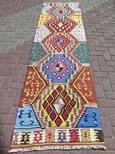 "Anatolian Turkish Wool Long Antalya Kilim Runner 32,6""x116,5"" Rug Runner,Carpet"