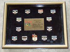 Rare 1992 US Olympic team sponsor Annhauser Busch commemorative framed pin set