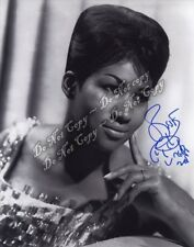 Aretha Franklin Signed Photo Dreamy Headshot Queen of Soul Autographed 4x6 Rp
