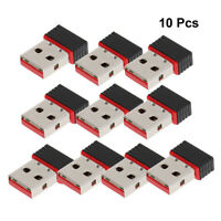 10Pc MINI CLE WIFI USB Adaptateur Sans Fil Dongle Réseau 150Mbps 802.11n/g/b