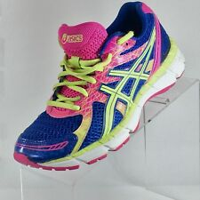Womens Asics Size 7.5 Pink Blue & yellow - green T483N