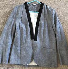 New Blazer Blue Size 12/14 ladies girls women Jacket Linen Blazer