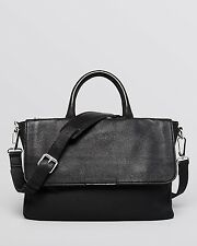 $795 MARC JACOBS Mens BLACK LEATHER LAPTOP Robbie G BRIEFCASE BAG WORK SCHOOL