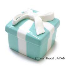 TIFFANY & CO Bone China *Mini* Blue Trinket Gift Box Ribbon Bow Porcelain Japan