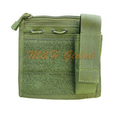 MOLLE Admin Pouch with Map Sleeve Flashlight Holder Chest Pouch - OD Green