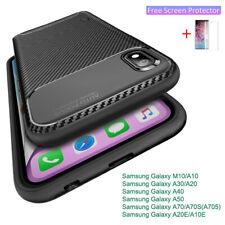 Case For Samsung Galaxy A10 A50 A40 A20e A30 A70 Carbon Fibre Shockproof Cover