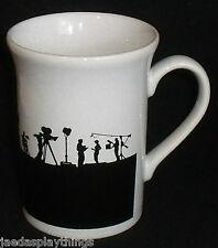 "Kilncraft Mug Cup Coloroll Lights Camera Action Movie England Black White 3.75"""