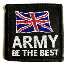 Army Cloth Patch Be The Best Soldier Flag Union Jack Badge Sew on Military Black