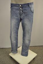 blue monkey Damen Jeans Hose Stretchhose W31 L32 Boyfriend Baggy Stoff Muster