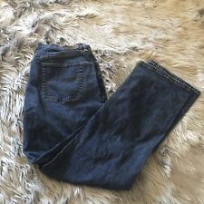 L.L.Bean Women's Jeans, Original Fit/ Relaxed 16M Tall 100% Cotton Blue Jeans