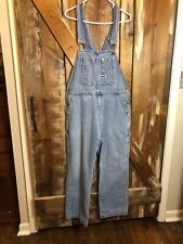 Vintage, Big Smith Overalls, Medium Dark Wash Blue, Size L. Made In USA