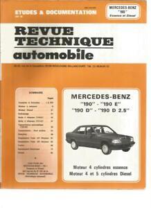 """REVUE TECHNIQUE AUTOMOBILE - MERCEDES-BENZ """"190"""" ESSENCE ET DIESEL"""