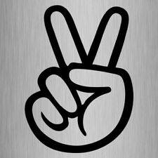 Peace Sign Hand Sticker Vinyl Car Decal 135mm x 100mm