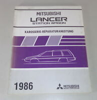 Workshop Manual Mitsubishi Lancer Station Wagon Supplement Body By 1986