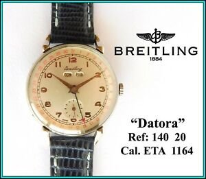 "Vintage BREITLING ""Datora"" Wristwatch Triple Calendar - Dial Refinished - WORKS"