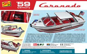 Lindberg Century Coronado Speedboat model new + copy of the 1960  instructions