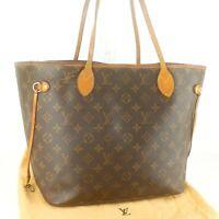 Auth LOUIS VUITTON NEVERFULL MM Tote Bag Shopping Purse Monogram M40156 Brown