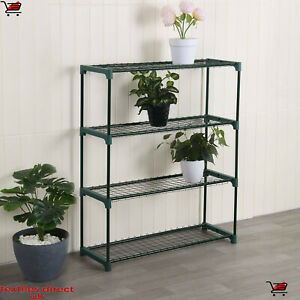 New 4 Tier Green House Shed Storage Shelving Plants Flowers Decoration Shelves