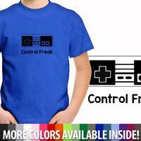 Toddler Boy Kids Youth Tee T-Shirt Control Freak NES Classic Retro Nintendo Game