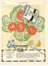 1925 ORIGINAL VINTAGE WESSON OIL COOKING OIL MAGAZINE AD