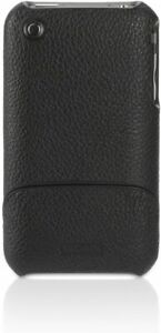 Griffin Elan (Black) Leather Wrapped Hard Case Cover for iPhone 3 3g BRAND NEW!!