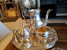 FB Rogers Coffee and Tea Set with Sheffield Tray, Serving Set, and Butter Dish