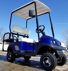 Electric Termite Golf Cart Mini Collapsible Four Seater Fully Loaded - BLUE