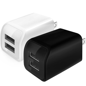 Cell Phone Fast Charger US Wall Plug Travel Dual USB Port Power Adapter Charging