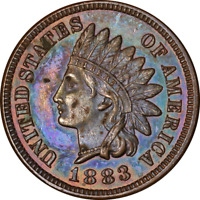 1883 Indian Cent Proof Decent Eye Appeal Nice Strike