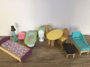wooden doll house furniture Barbie Size