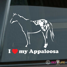 I Love my Appaloosa Sticker Die Cut Vinyl Ver 2 Stock Horse