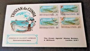 Tristan da Cunha 1967 Opening of Calshot Harbour First Day Cover