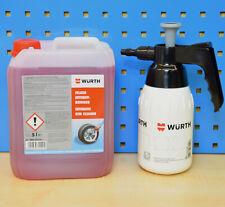 Set Würth Felgenreiniger Intensiv 5 Liter + Pumpsprühflasche Pumpsprayflasche