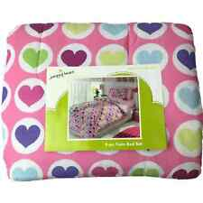 Girls Twin Bed in a Bag Colorful Hearts Comforter Set Sheets Sham 5 pc