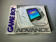 Nintendo Game Boy GameBoy Advance Platinum Handheld System Complete Close to New