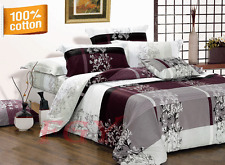 M989 100% Cotton Quilt/Duvet/Doona Cover Set Queen/King/Super King Size Bed New