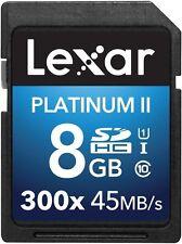 Lexar Platinum II 300X 8GB SD SDHC UHS-I Class 10 Memory Card For Camera DSLR