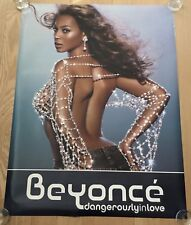 "Rare Vintage Beyonce - Dangerously In Love 36"" X 48"" Huge Promo Poster Cd Back"