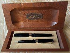 "Parure OMAS VS (stilografica+sfera) pennino  14kt ""F"". Fountain+ ball point pen."