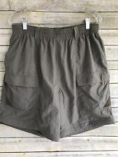 Men's Columbia Shorts XL Green PFG Fishing Gear EUC  Elastic Waist