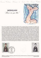 Document Philatélique Timbre  1er Jour : 25/10/ 1980 - Modigliani