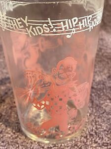 Welch's Jelly Glass 1953 Howdy Doody - Hip Hip Hooray - Phineas - Pink