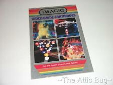 Opuscolo ~ Imagic VIDEO GAME CARTRIDGE ~ ATARI del VCS 2600 (bordo argento 2)