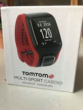Red and Black TomTom Multi-Sport Cardio refurbished GPS Watch