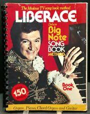 Liberace TV Song Big Note Sheet Music Song Book Piano Chord Organ M8